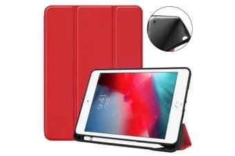 For iPad mini 5 (2019) Case,Smart PU Leather + TPU Shockproof Folio Cover,Red