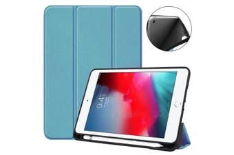 For iPad mini 5 (2019) Case,Smart PU Leather + TPU Shockproof Folio Cover,Blue