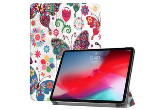 For iPad Pro 11-inch 2018 Case,PU Leather Folio Cover,Butterfly Pattern