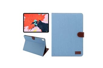 For iPad Pro 12.9 Inch (2018) Case,PU Leather Folio Cover,Blue Denim