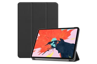 For iPad Pro 12.9 Inch (2018) Case,PU Leather Folio Cover,Black Karst Texture