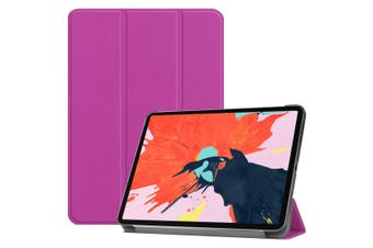 For iPad Pro 12.9 Inch (2018) Case Purple Karst Texture PU Leather Folio Cover