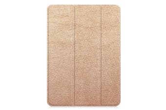 For iPad Pro 12.9 In (2018) Case Rose Gold Karst Texture PU Leather Folio Cover