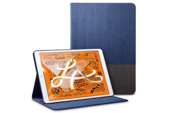For iPad Mini 5 (2019) Smart Case, Folio Cover with Built-in Kickstand, Blue