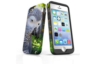 For iPhone SE/5s/5 Case Armoured Tough Cover,African Grey
