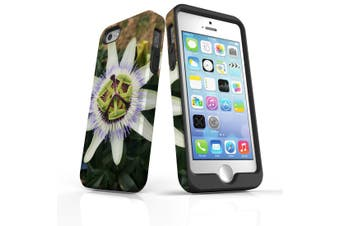 For iPhone SE/5s/5 Case Armoured Tough Cover,Blossoming Flower