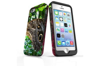 For iPhone SE/5s/5 Case Armoured Tough Cover,Butterflies Eyes