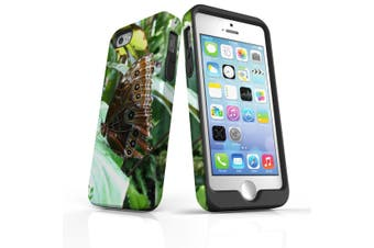 For iPhone SE/5s/5 Case Armoured Tough Cover,Butterfly Leaf