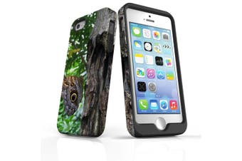 For iPhone SE/5s/5 Case Armoured Tough Cover,Butterfly On a Tree