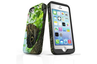 For iPhone SE/5s/5 Case Armoured Tough Cover,Butterfly Tree