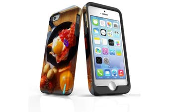 For iPhone SE/5s/5 Case Armoured Tough Cover,Delicious Breakfast