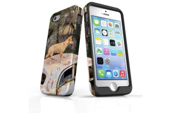 For iPhone SE/5s/5 Case Armoured Tough Cover,Dingo