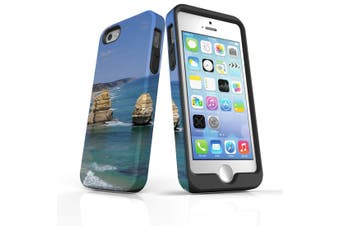 For iPhone SE/5s/5 Case Armoured Tough Cover,Great Ocean Rd Rocks