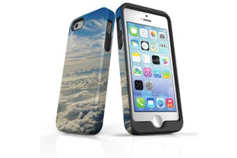 For iPhone SE/5s/5 Case Armoured Tough Cover,Clouds above the Sky