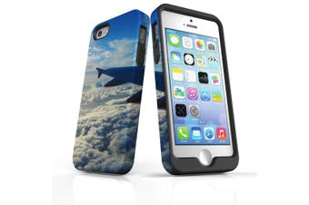 For iPhone SE/5s/5 Case Armoured Tough Cover,Clouds from the Plane