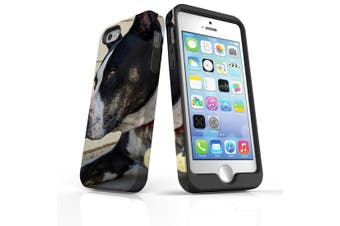 For iPhone SE/5s/5 Case Armoured Tough Cover,Staffy Portrait