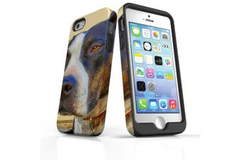 For iPhone SE/5s/5 Case Armoured Tough Cover,Sceptical Staffy