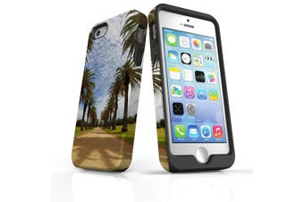 For iPhone SE/5s/5 Case Armoured Tough Cover,Palm Walkway Path