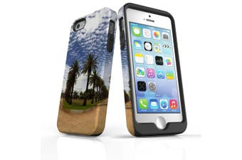 For iPhone SE/5s/5 Case Armoured Tough Cover,Palm Walkway Paths
