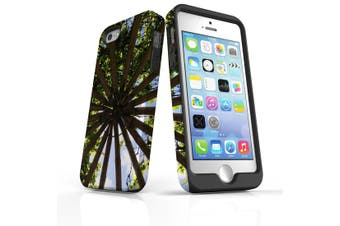 For iPhone SE/5s/5 Case Armoured Tough Cover,Garden Ceiling
