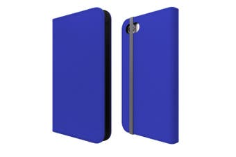 For iPhone SE (2020) / 8 / 7 Case Wallet Protective Cover Blue