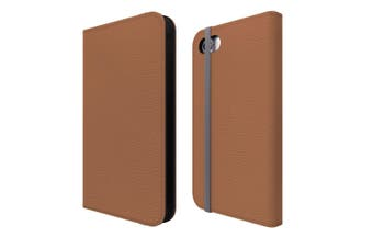 For iPhone SE (2020) / 8 / 7 Case Wallet Protective Cover Brown