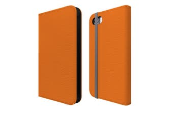For iPhone SE (2020) / 8 / 7 Case Wallet Protective Cover Orange