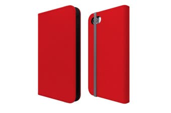 For iPhone SE (2020) / 8 / 7 Case Wallet Protective Cover Red