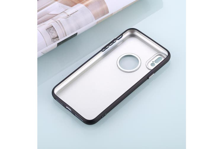 For iPhone XS,X Back Case,Styled Metal Button High-Quality Shielding Cover,Black