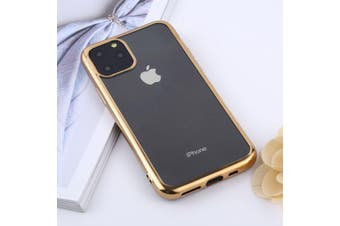 For iPhone 11 Pro Max Case, Clear Protective Back Cover, Gold