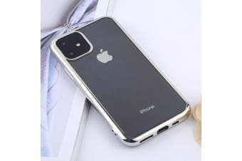 For iPhone 11 Case, Clear Protective Back Cover, Silver