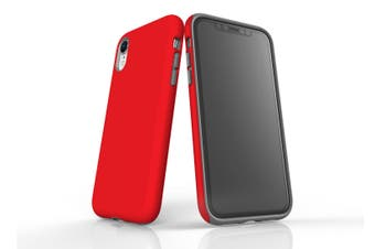Red For iPhone XR Tough Case  Protective Back Cover