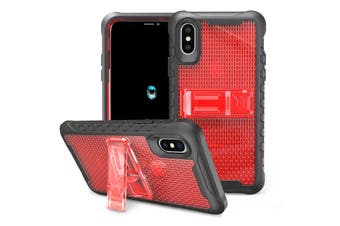 Red Honeycomb For iPhone XS,X Case,Armour Phone Cover,KickStand