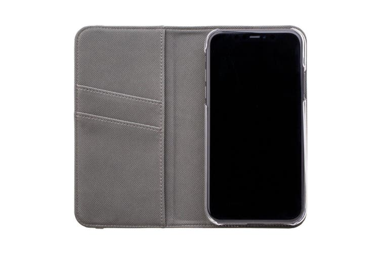 For iPhone XS & X Case Wallet Protective Cover Black