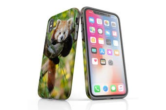 For iPhone XS Case  Protective Back Cover  Red Panda
