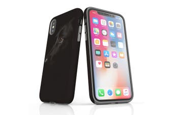 For iPhone XS Case, Protective Back Cover, Black Lab