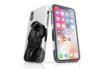 For iPhone XS Case  Protective Back Cover  Curious Pug