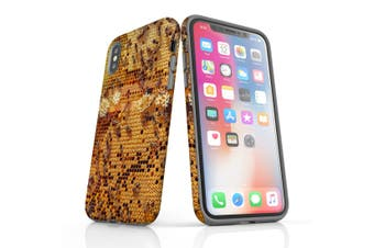 For iPhone XS Case  Protective Back Cover  Working Bees