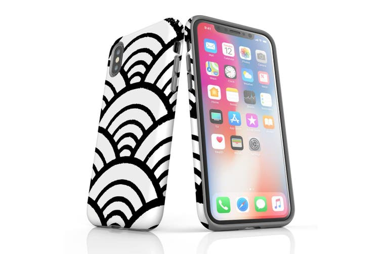 For iPhone XS/X Protective Case  Japanese Folk Wave