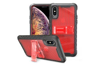Red Honeycomb For iPhone XS MAX Case,Armour Phone Cover,KickStand