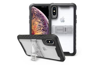 Transparent Honeycomb For iPhone XS MAX Case,Armour Phone Cover,KickStand