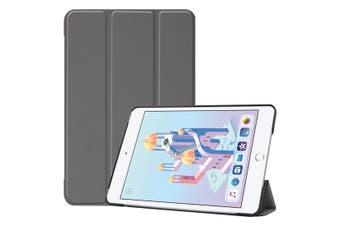 For iPad mini 5 (2019) Case Grey Karst Texture Smart PU Leather Folio Cover