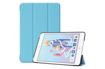 For iPad mini 5 (2019) Case Sky Blue Karst Texture Smart PU Leather Folio Cover