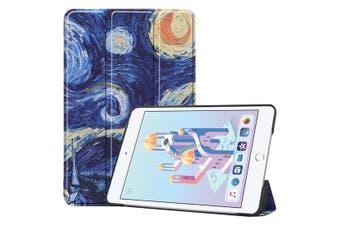 For iPad mini 5 2019 Case,Karst Texture Folio PU Leather Smart Cover,Starry Sky