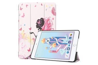 For iPad mini 5 2019 Case,Karst Texture Folio PU Leather Smart Cover,Fairy Girl