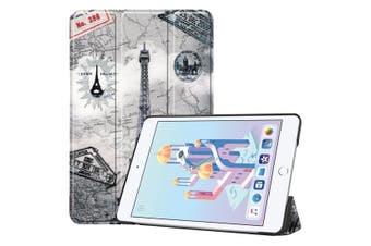 For iPad mini 5 2019 Case Karst Texture Folio PU Leather Smart Cover Retro Tower
