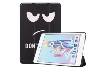 For iPad mini 5 2019 Case,Karst Texture Folio PU Leather Smart Cover,Fun Eyes
