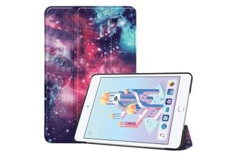For iPad mini 5 2019 Case,Karst Texture Folio PU Leather Smart Cover,Galactic