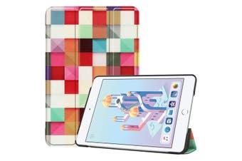 For iPad mini 5 2019 Case,Karst Texture Folio PU Leather Smart Cover,Magic Cube