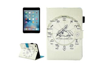 For iPad mini 1 2 3 4 Wallet Case Twelve Constellations Durable Leather Cover